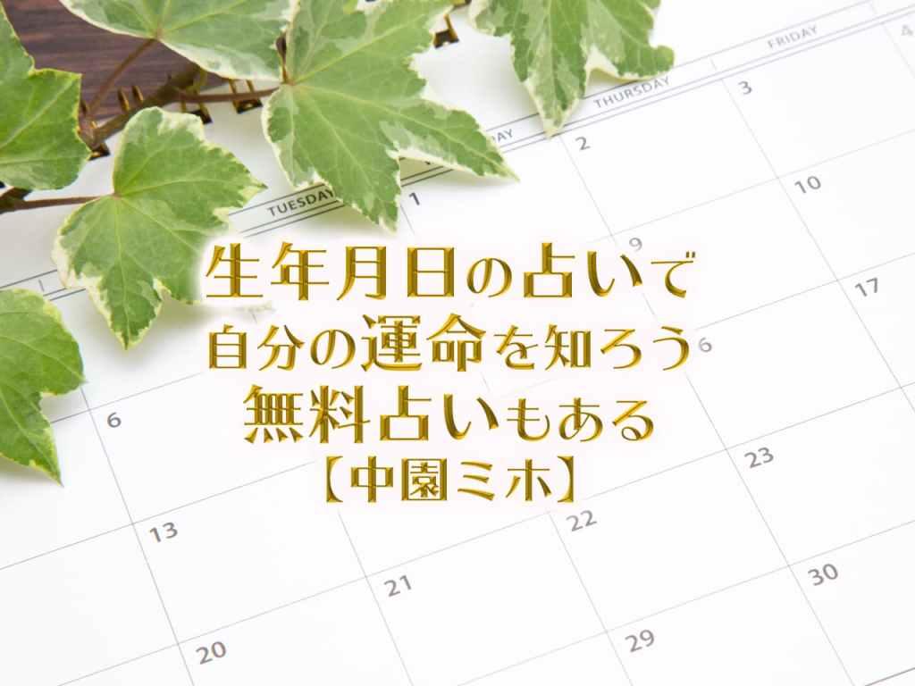 生年月日占いで自分の運命を知ろう!中園ミホの占いは誕生日だけで当たる?